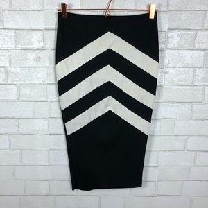 ASOS Chevronn Midi Body Con Skirt